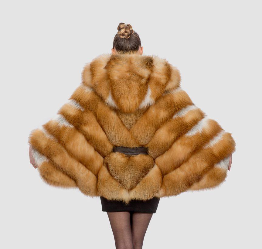 Fox Fur Cape Loose Sleeves