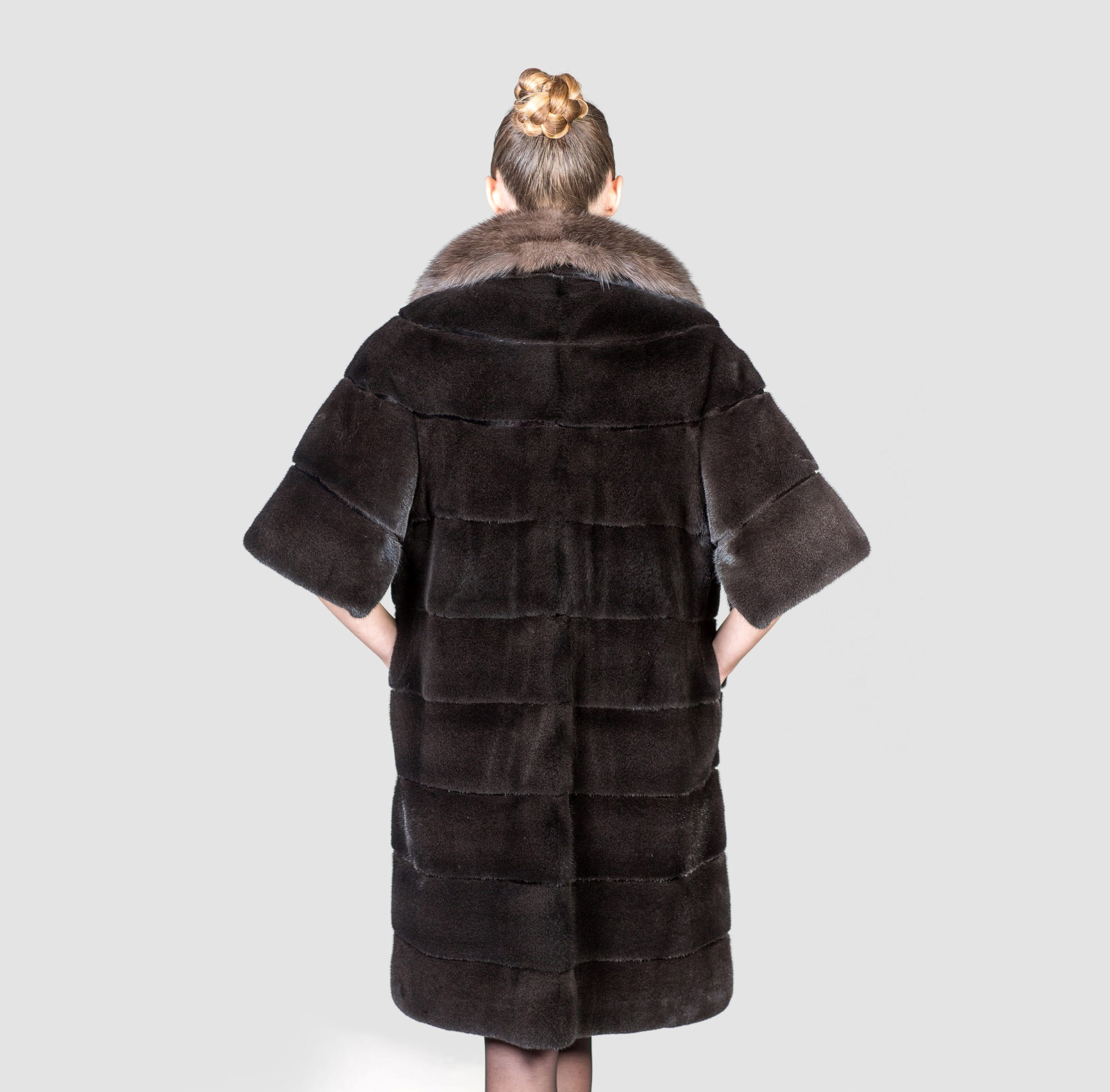 Black Mink Fur Coat With Sable Collar - Haute Acorn for Sable Fur Cape  56mzq