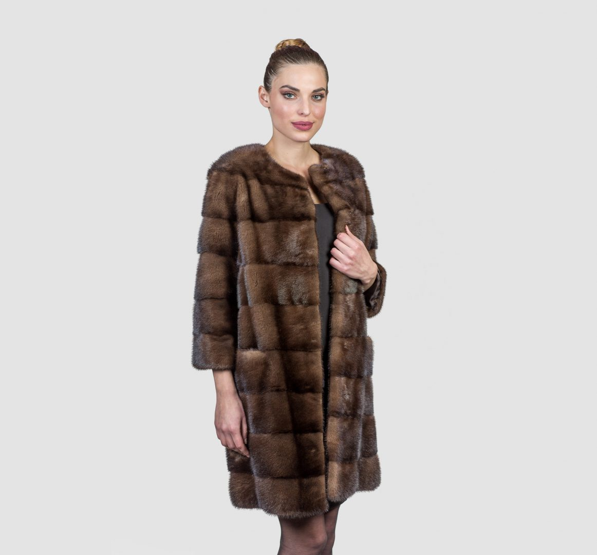 Demi Buff Long Mink Fur Coat - Real Fur Coats Jackets &amp Accessories