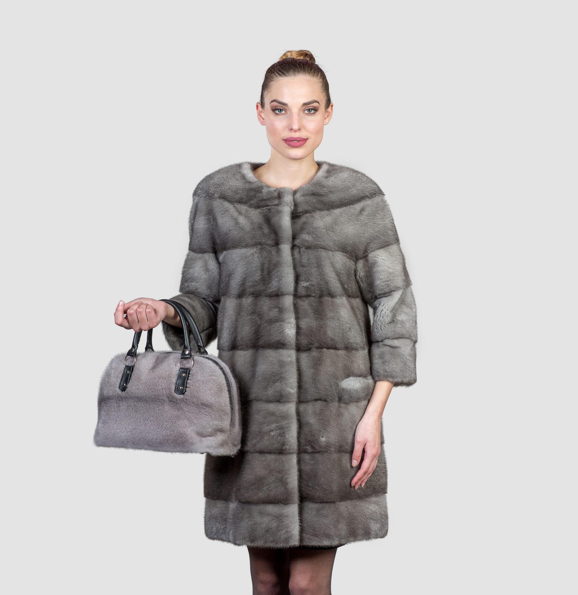 91f7ab3a8dc69 Elegant Blue Iris Mink Fur Coat. 100% Real Fur Coats and Accessories.