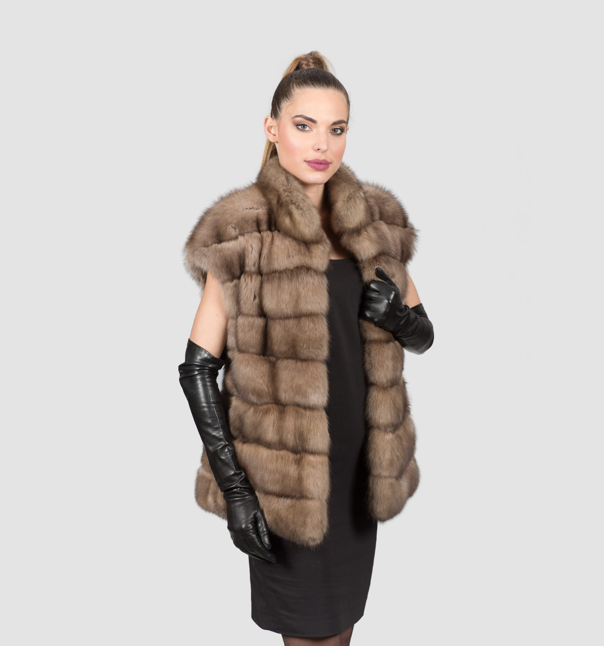 Russian Sable Fur Vest I Look Classy With This Natural
