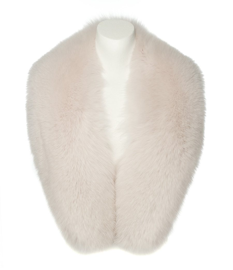 many fashionable well known outlet store sale Ice Pink Fox Fur Collar - Haute Acorn