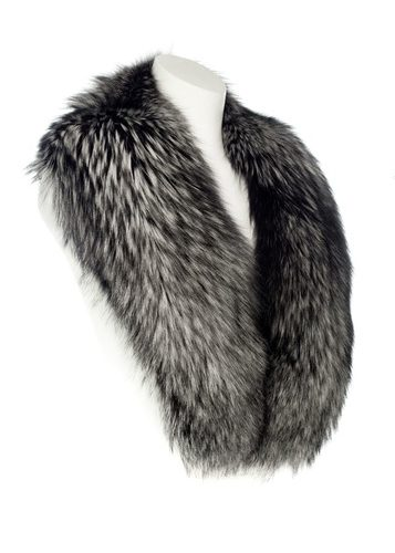 silver fur collar