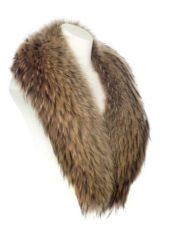 suede fox fur collar