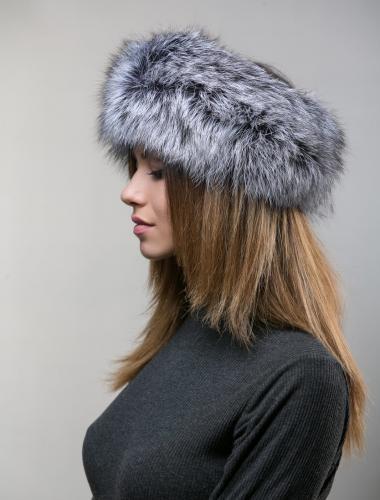 Silver Fox Fur Head Band