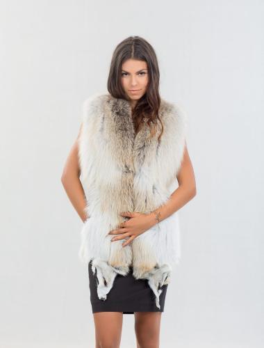Golden Island Fox Fur Vest