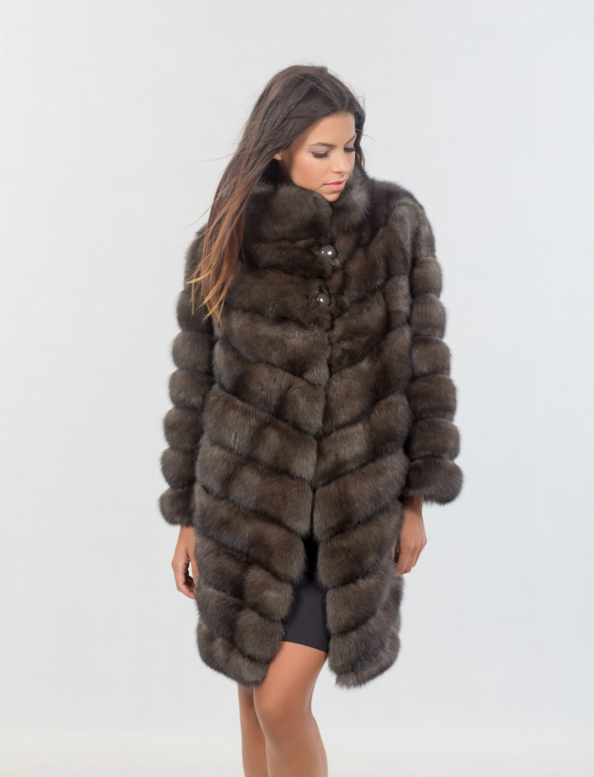 Sable fur coat - Real fur jackets and vests. Worldwide shipping