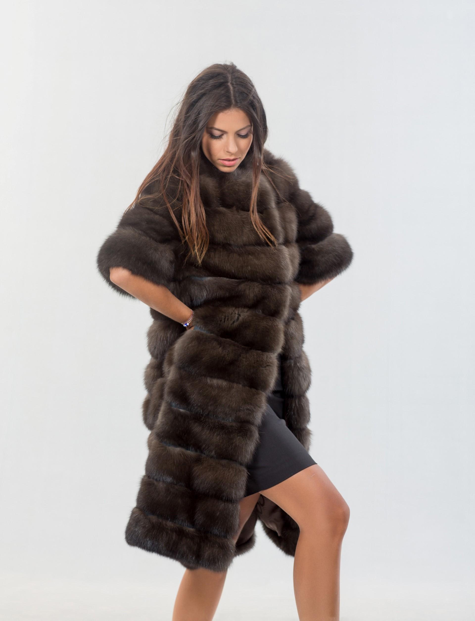 Sable Fur Coat >> Dark Skin Russian Sable Fur Coat I Classy Real Fur Coats