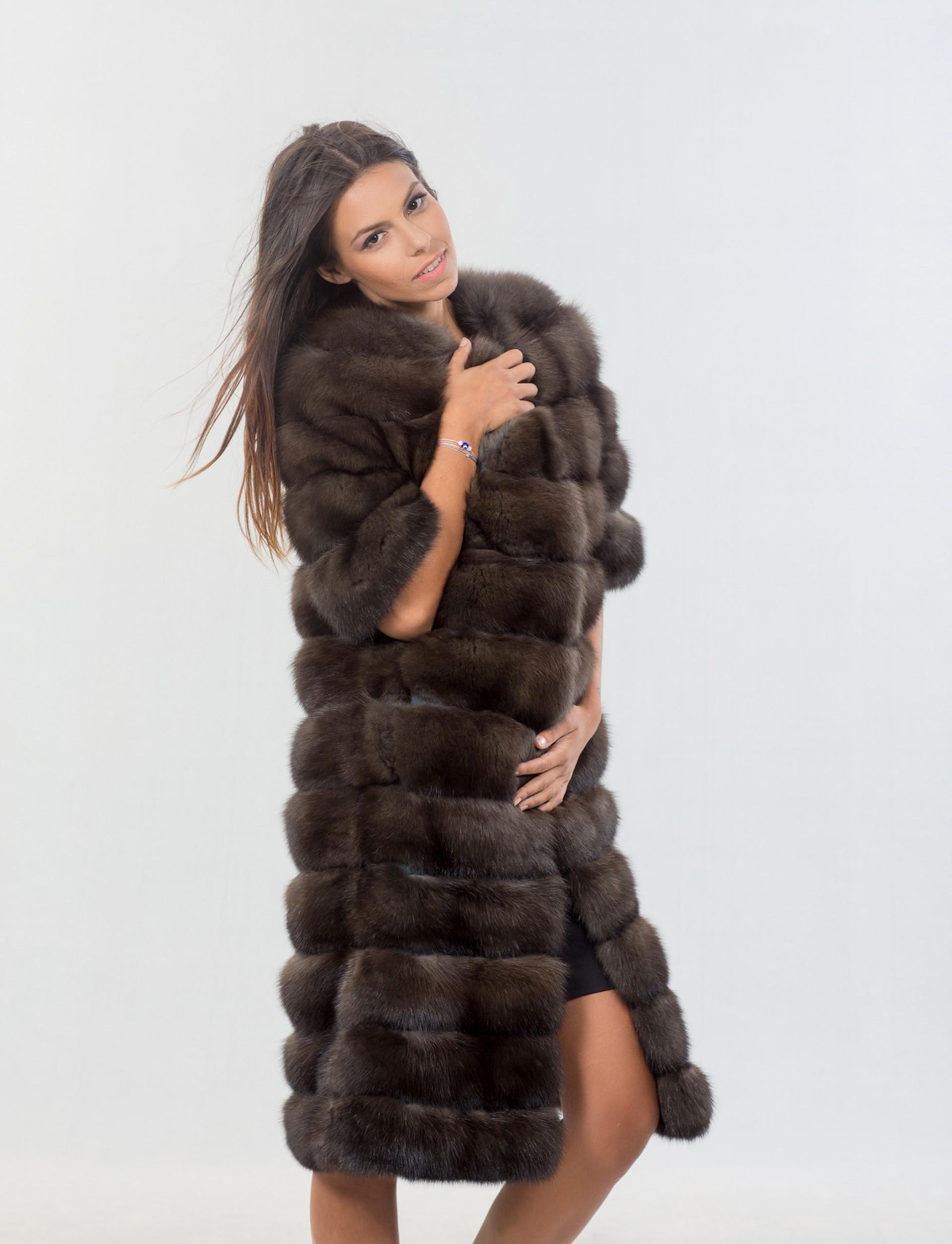 Fox Furs Arctic Royal Saga Fur Coat Outlet
