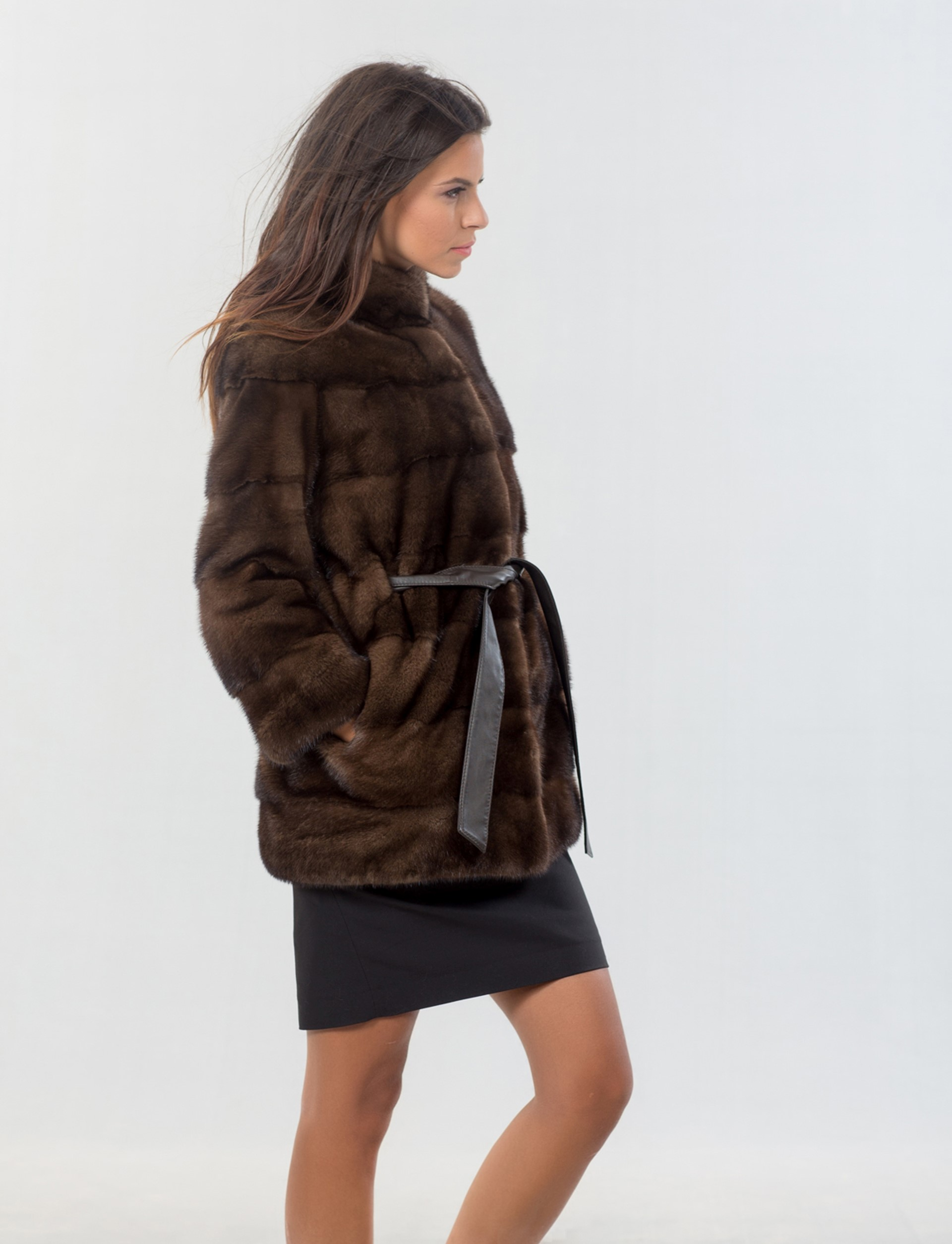 Mink Male Brown Fur Jacket - Haute Acorn