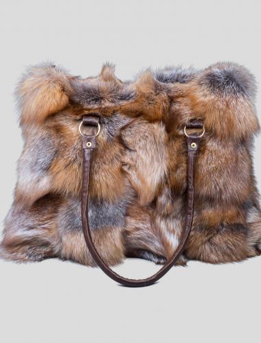 crystal fox fur handbag (3)