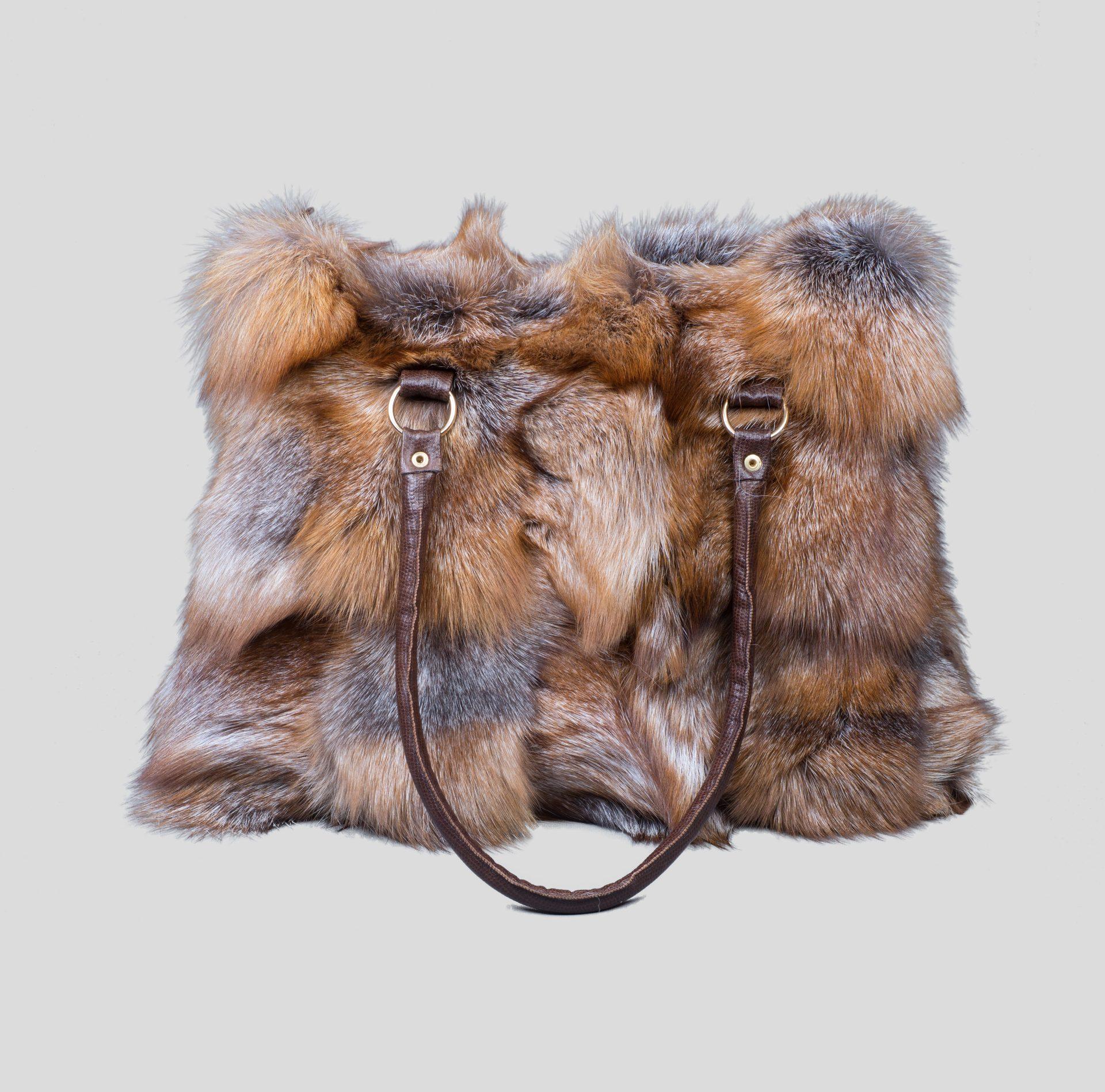 Crystal Fox Fur Handbag 3