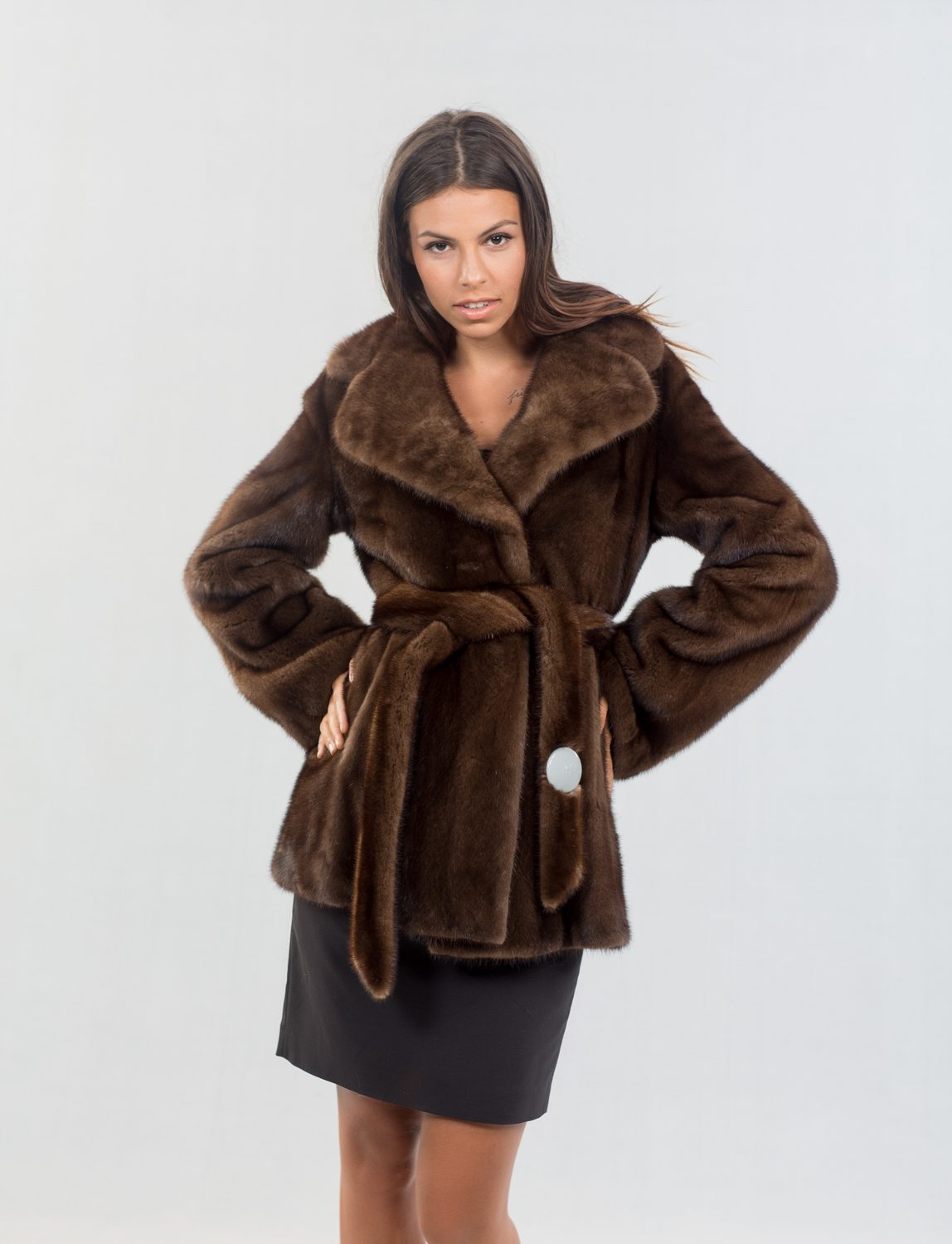 Mink Male Sc. Brown Fur Jacket. 100% Real Fur Coats and Accessories.