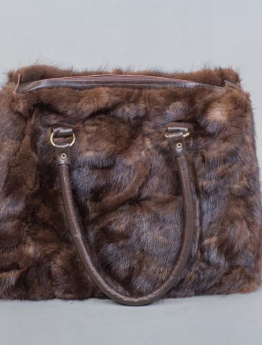 Real Mink Fur Handbag