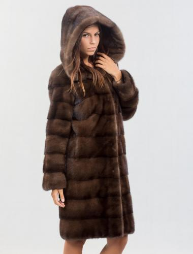 long mink fur coat for women
