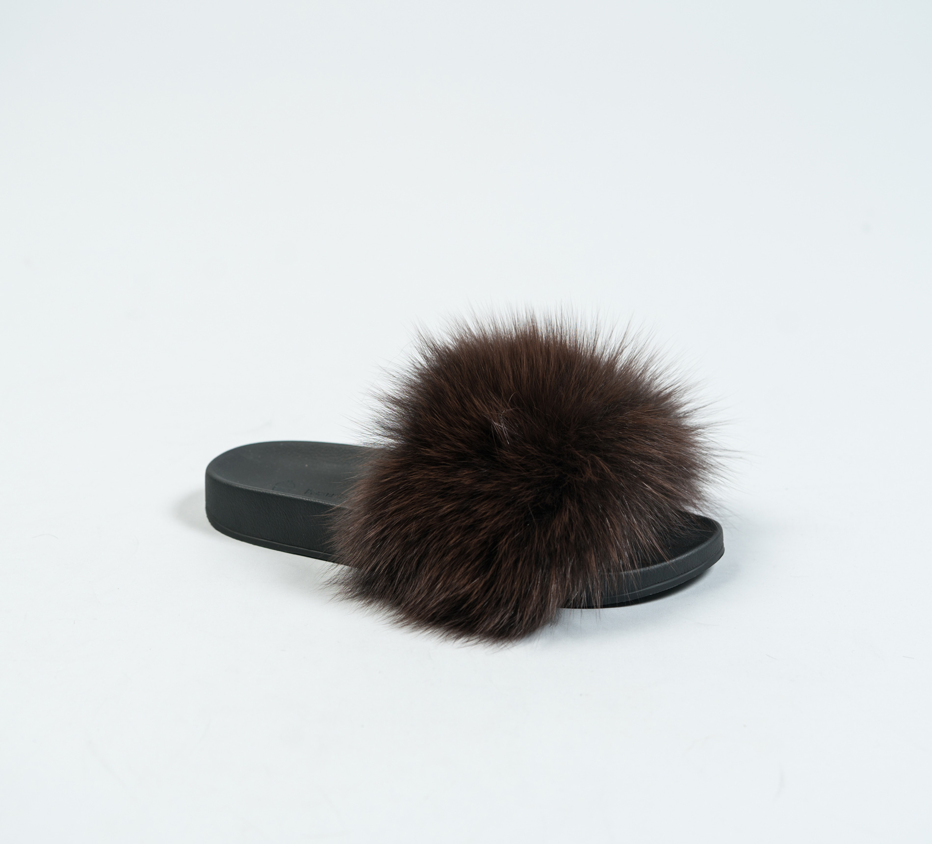 7f3700d5dff2 Mahogany Fur Slides. Made of 100% Real Fur. All Sizes Available.