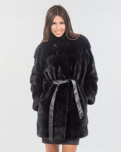 c10a31c66 Real Fur Coats | Black Fur Coat - Made of 100% Real Fur | Haute Acorn