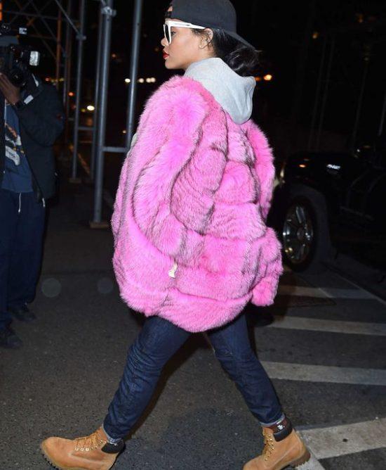 8f13077a471 Rihanna's Best Fur Outfits - Haute Acorn