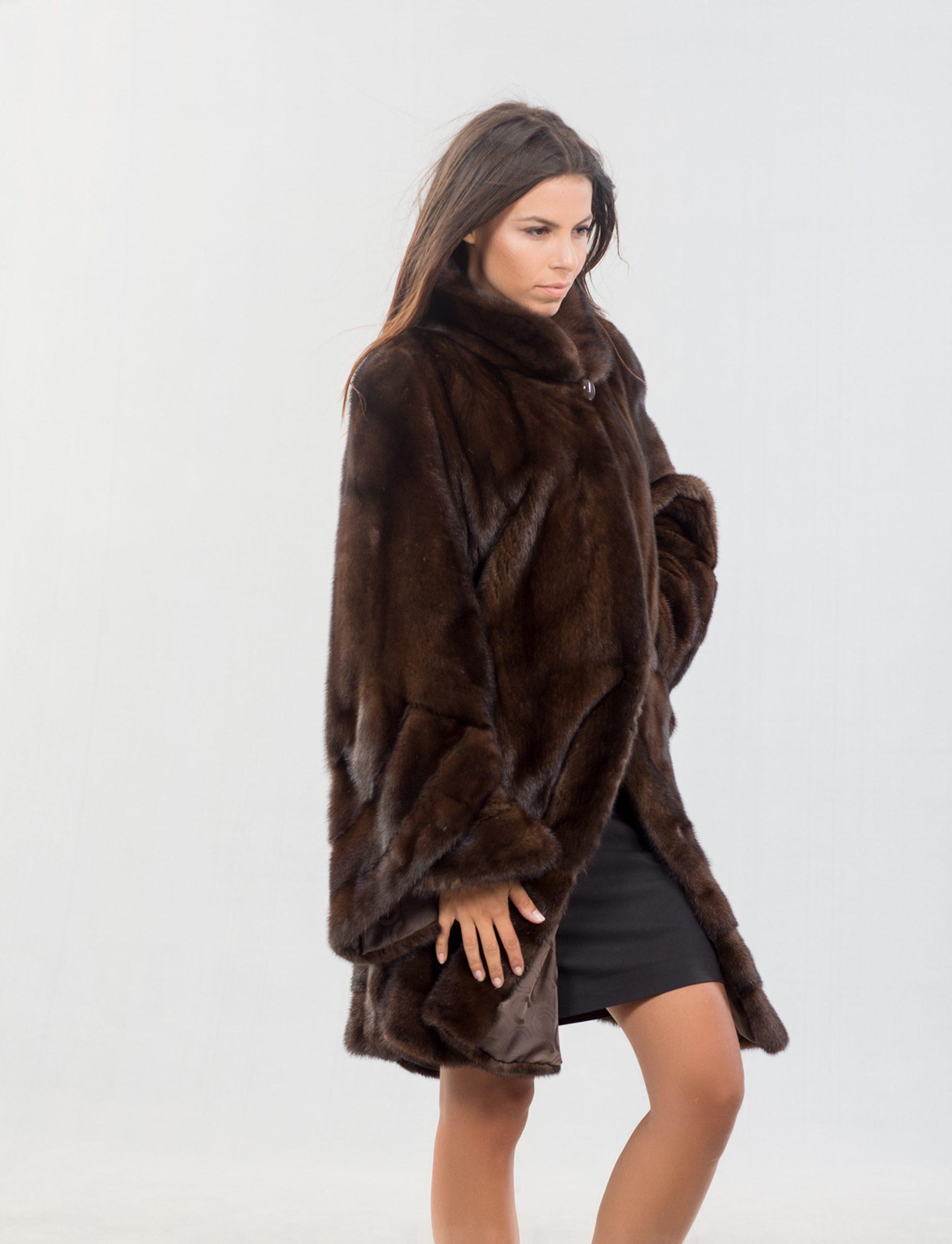 dark brown mink fur jacket 100 real fur coats and