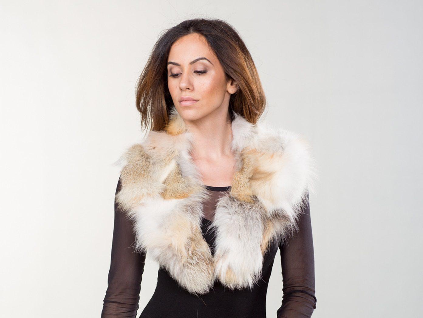 b17a6cd2cf122 Red and White Fox Fur Collar I Made of Real Fox Fur I Haute Acorn