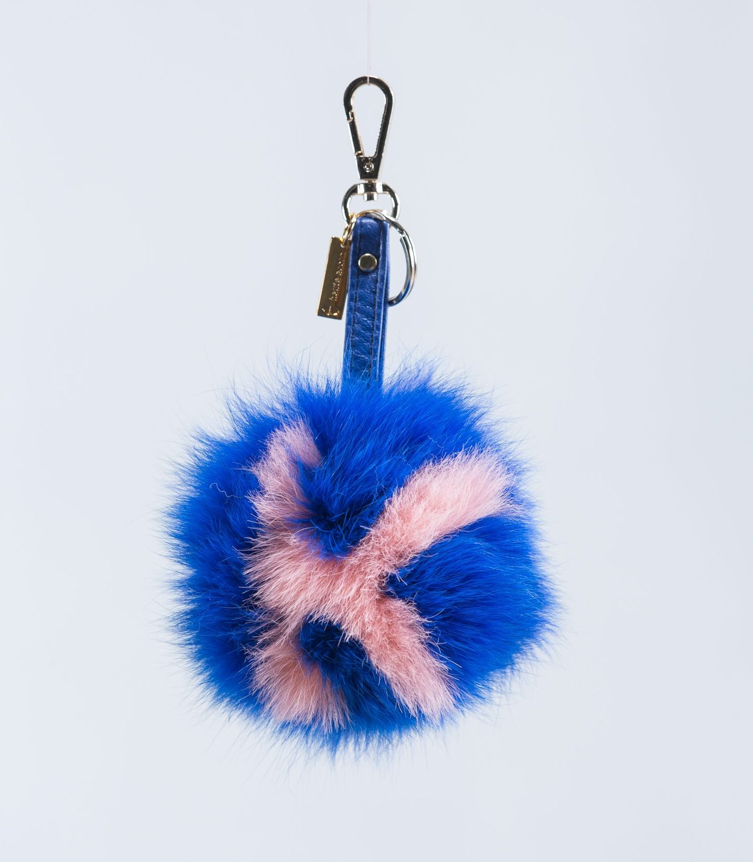 Fur Bag Charm With K Letter. 100% Real Fur Keychains. ea2710d97