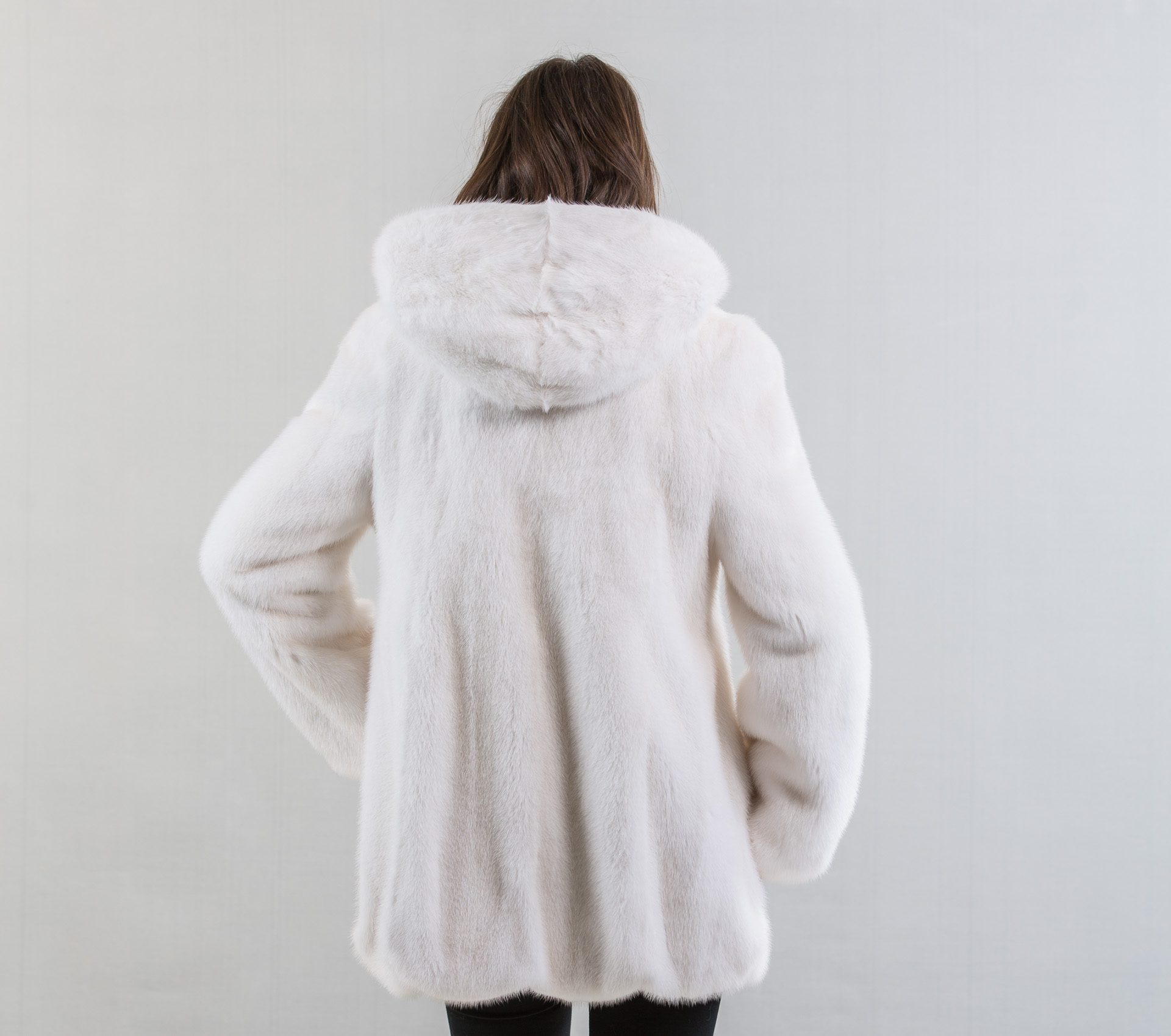 6f059286cf White Mink Fur Coat With Hood - Haute Acorn