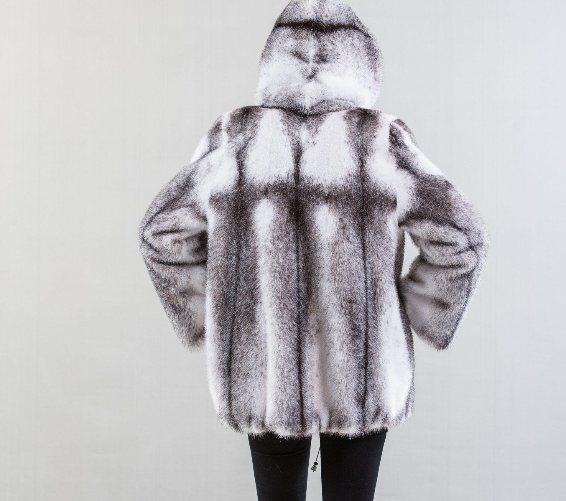 Black Cross Mink Fur Jacket - Haute Acorn