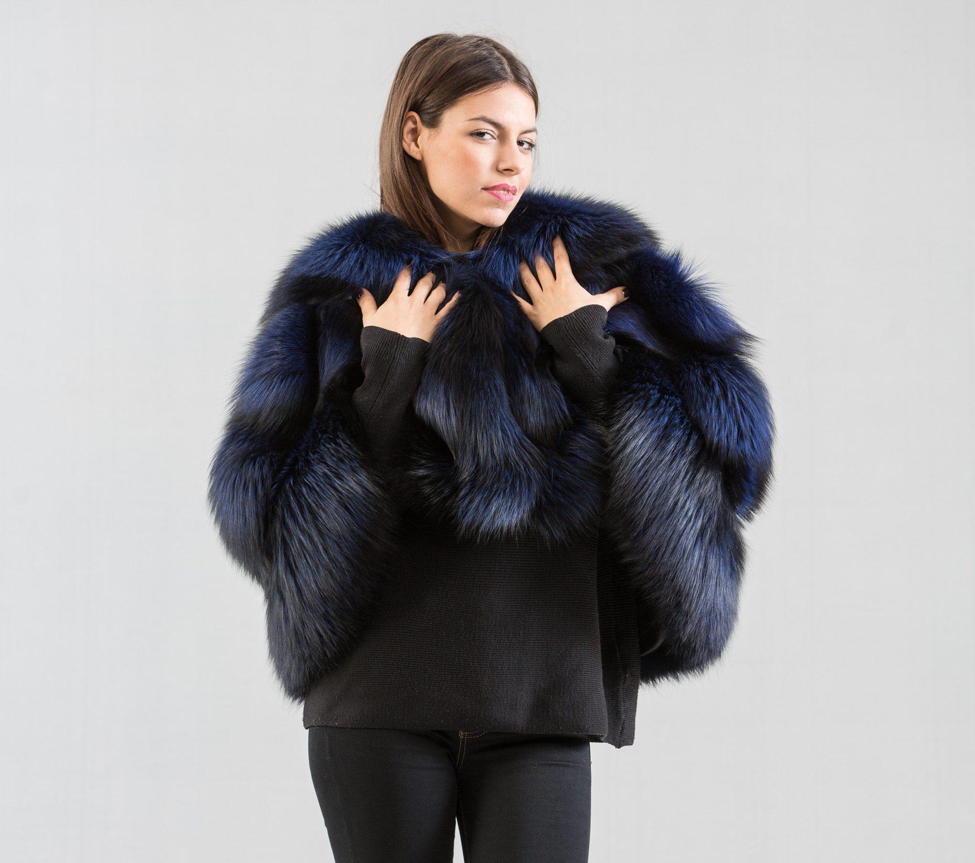 7a9acda120df Dark Blue Fox Fur Etol - Haute Acorn