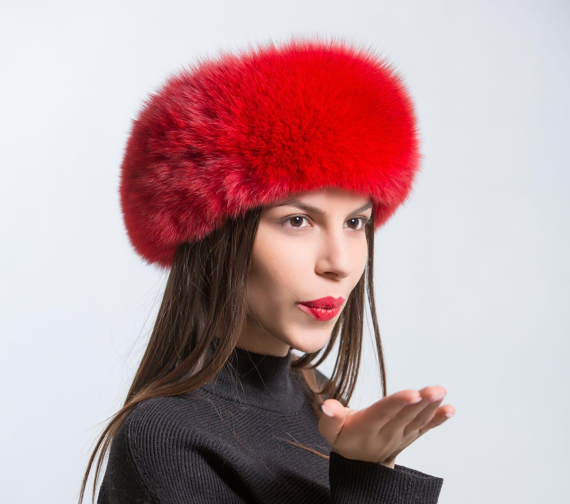 red fur headband