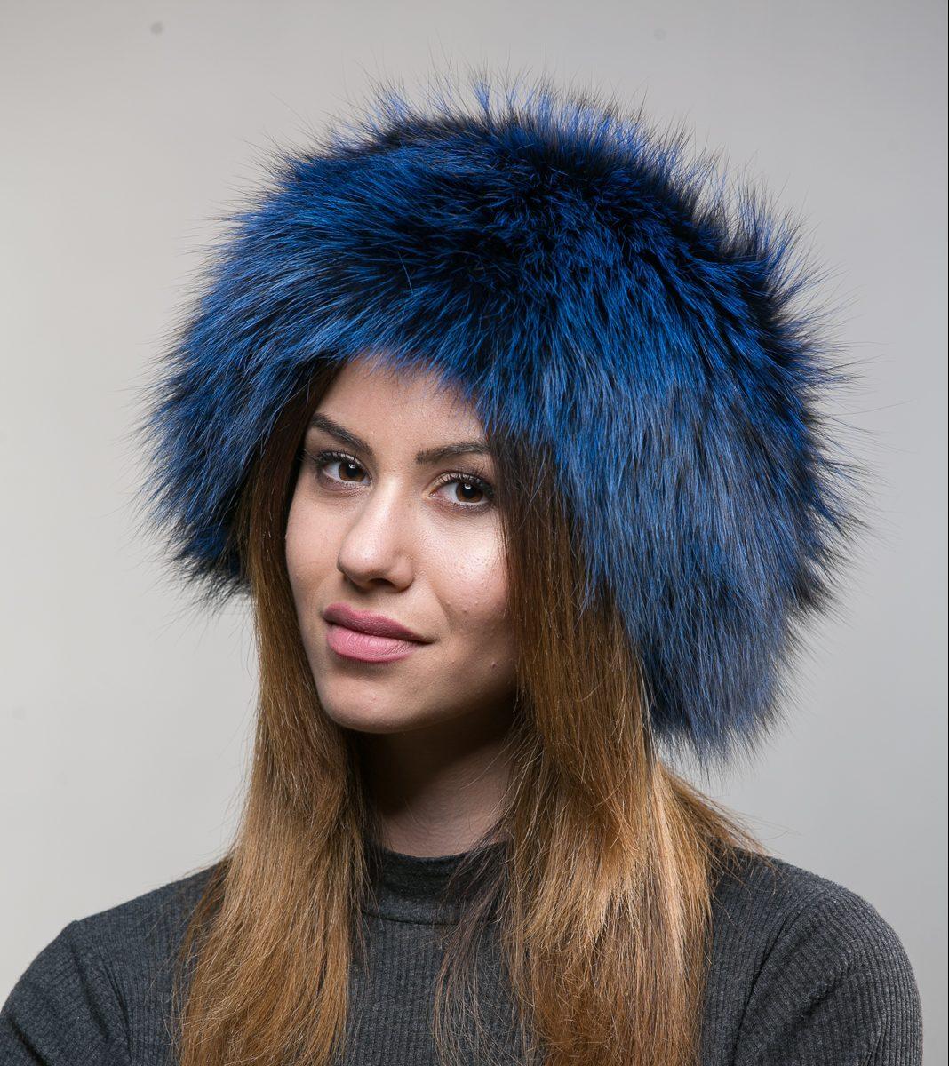 Blue Fox Fur Hat - Haute Acorn d40c1e8d008