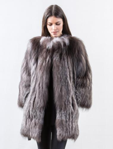 Fox fur coat - Real fur jackets and Vests. Worldwide shipping.