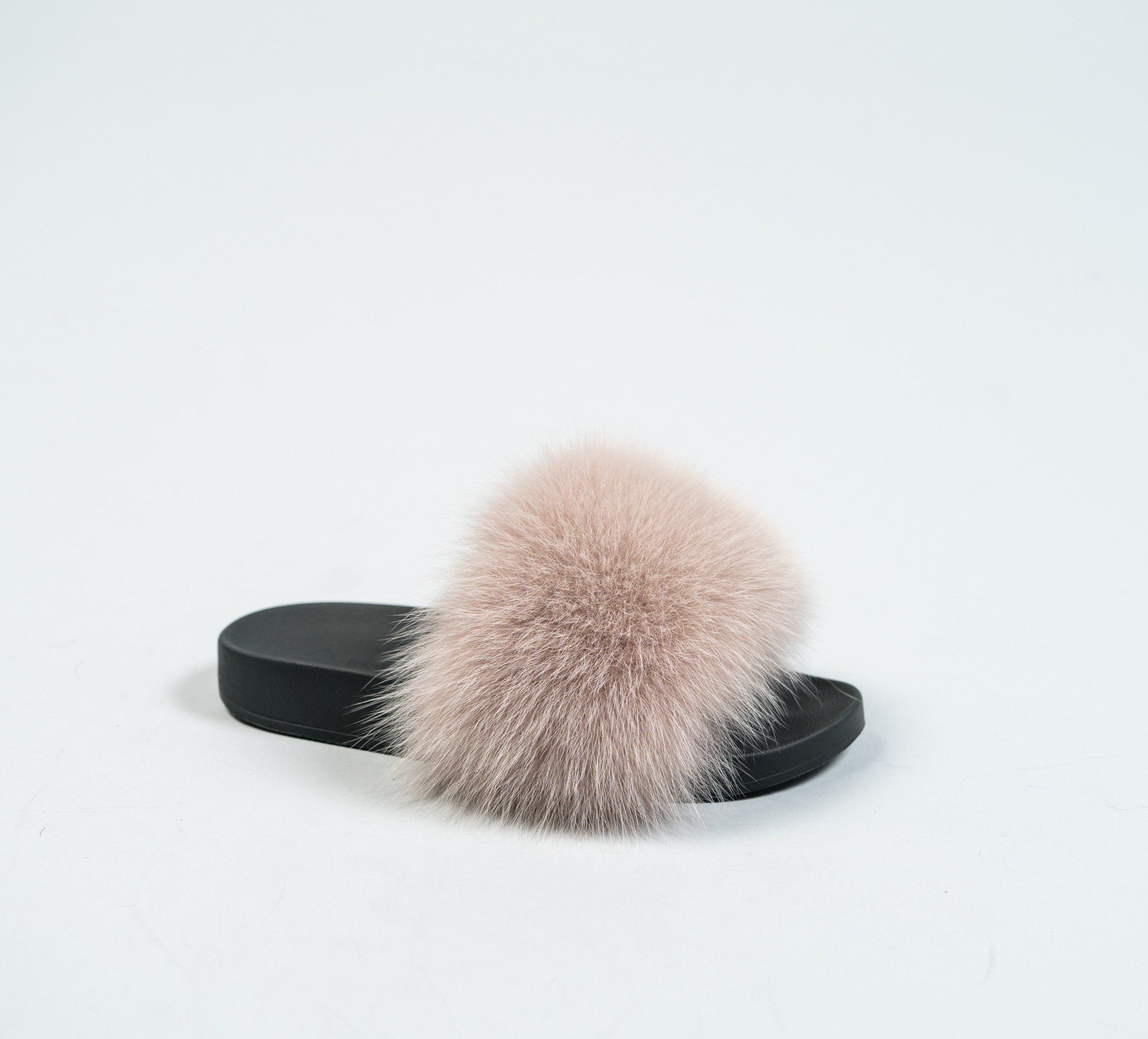 Beige Fur Slides Made Of 100 Real Fur All Sizes Available-9268