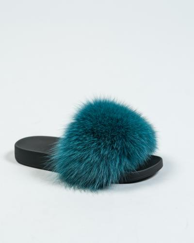 e0fe194f29d4 Black Fur Slides - Made of 100% Real Fur - All Sizes Available.