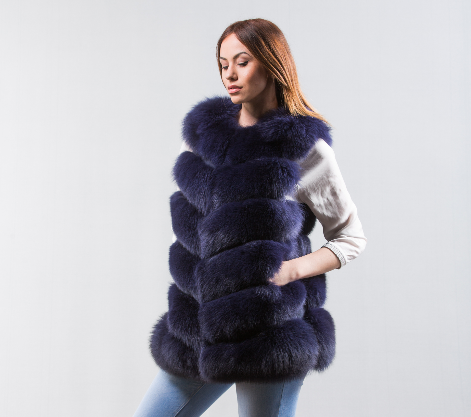 Funky fun blue faux fur cropped vest. Wantdo Women's Quilted Padding Puffer Vest With Removable Hooded. by Wantdo. $ $ 39 97 Prime. FREE Shipping on eligible orders. Some sizes/colors are Prime eligible. out of 5 stars