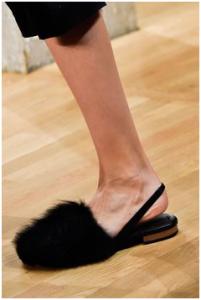Tibi's minimalist ankle strap flats