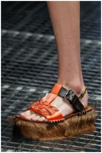 Prada fur sandals