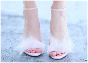 Steve Madden fur heels