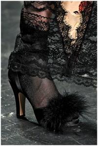 Anna Sui's fur heels