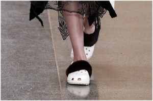 Christopher Kane furry crocs
