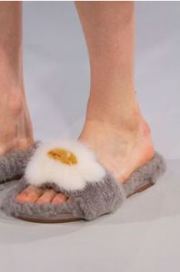 Anya Hindmarch fur slides