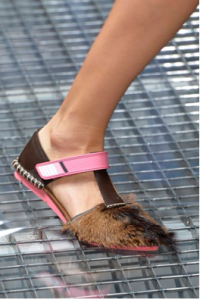 prada fur flats