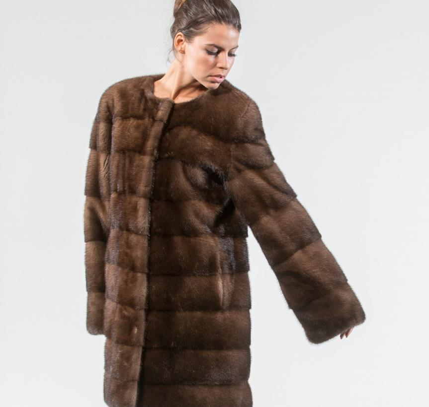 Demi Buff Mink Fur Jacket 2