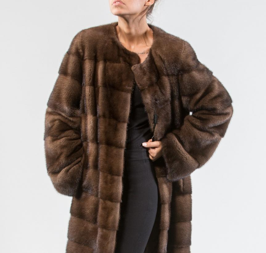 Demi Buff Mink Fur Jacket 4