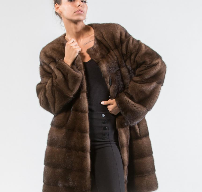 Demi Buff Mink Fur Jacket 5