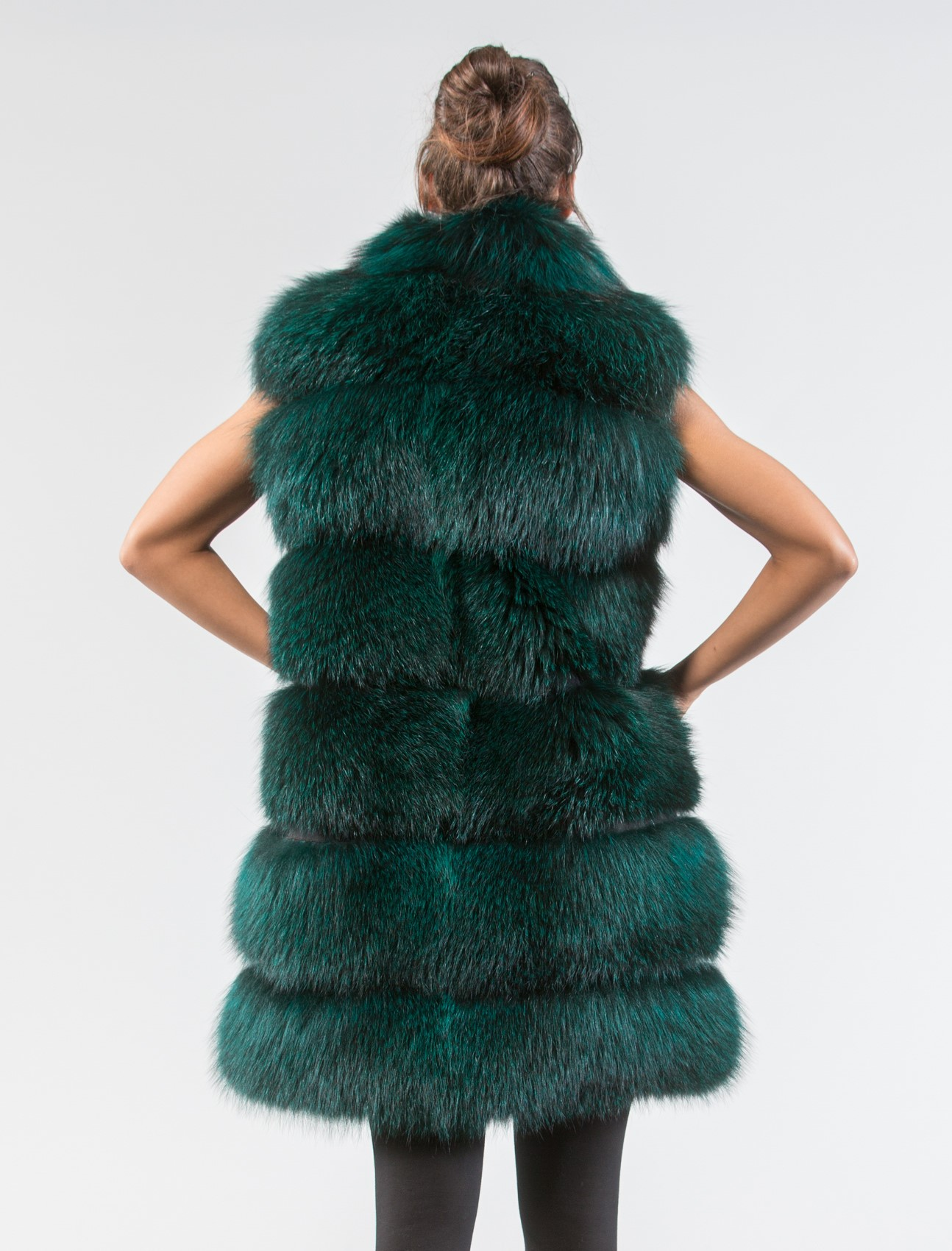 Shop green fur vest at Neiman Marcus, where you will find free shipping on the latest in fashion from top designers.
