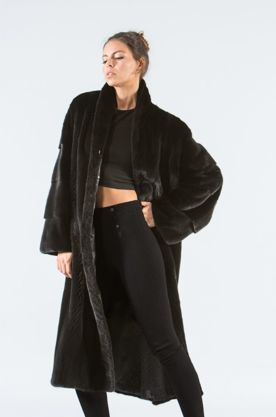 Black Mink Long Fur Coat I 100 Real Fur Coat Haute Acorn