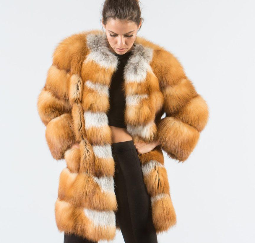 Canadian Red Fox Fur Jacket 2