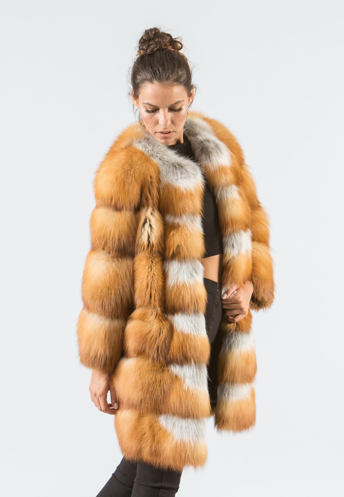 Canadian Red Fox Fur Jacket - 100% Real Fur Coats