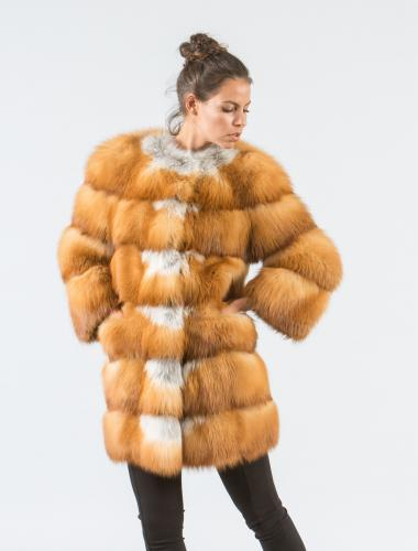 Canadian Red Fox Fur Jacket