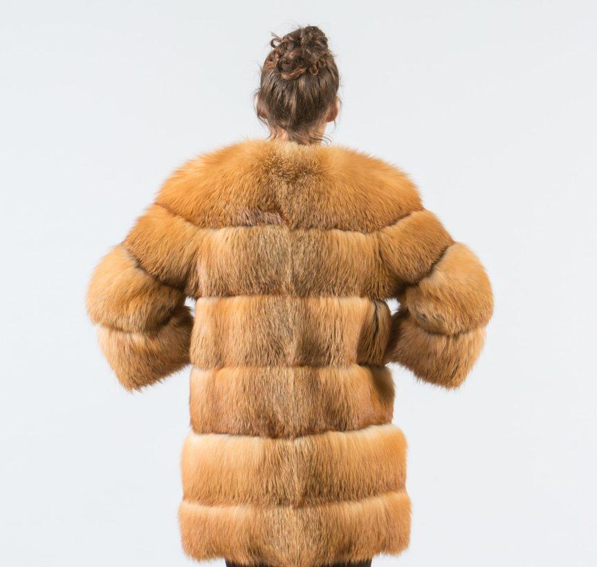 Canadian Red Fox Fur Jacket 6